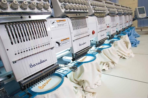image of multi head barudan embroidery machine southall