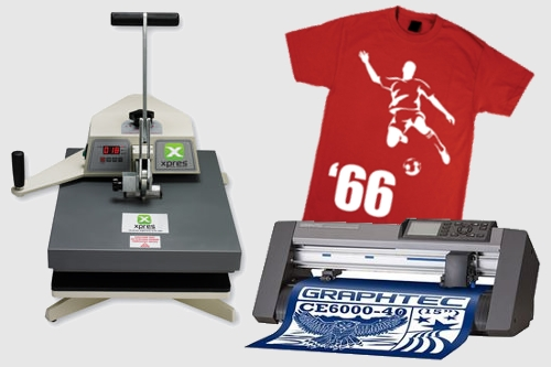image of vinyl t shirt printing equipment heston